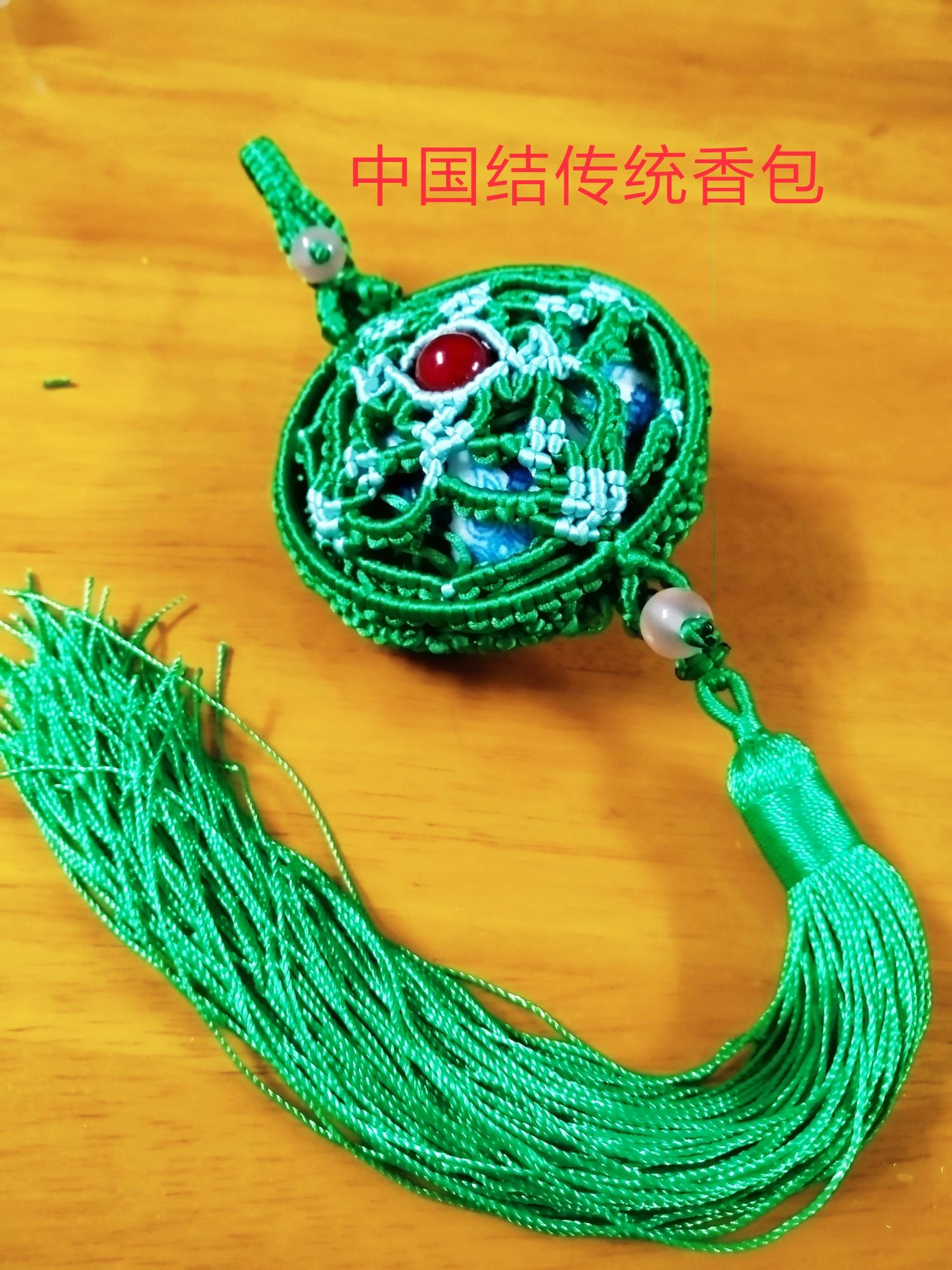 中国结论坛 |斜卷结挂饰  作品展示 025747ksetuhfdp6aohtp9