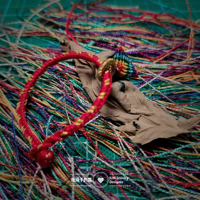 中国结论坛 端午节幻彩小粽子+五彩绳 五彩线可以长期戴吗,五色线手链编法,五彩绳粽子编法图解,五彩绳怎么系手上图解 作品展示 153949u06ebjcfah73ayaa