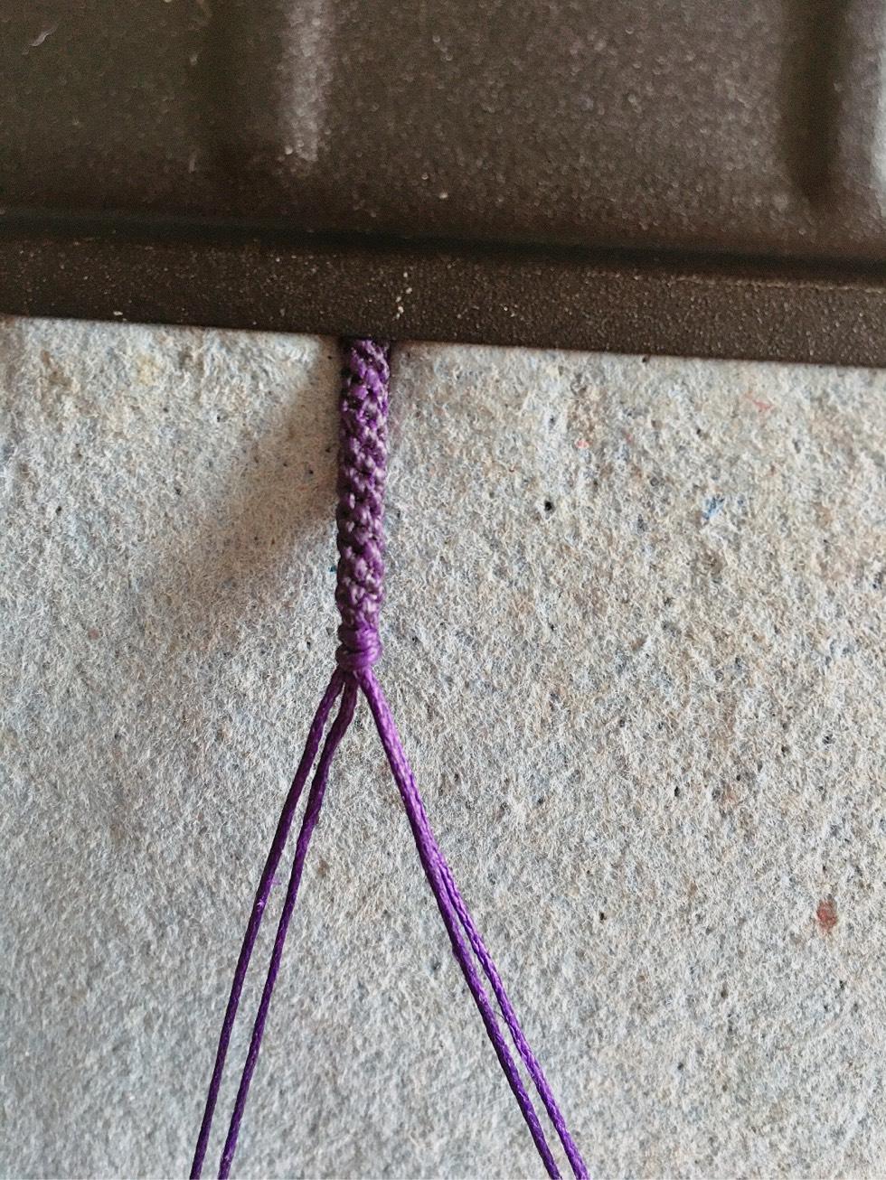 中国结论坛 项链绳中间过渡 两端抽拉的绳结怎么打,一根线穿吊坠打结方法,二根绳子各种编法图解 图文教程区 142611h9ppe9a87977pq7r