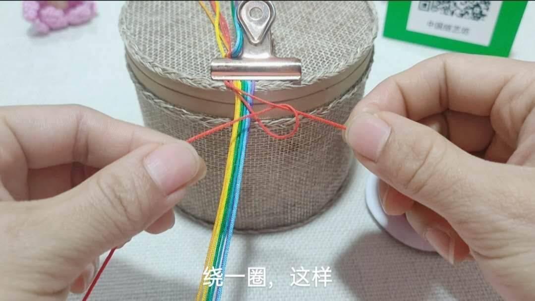 中国结论坛 六一节就做个彩虹斜卷结钥匙扣送给宝贝吧! 钥匙扣,送给,宝贝,钥匙,彩虹 图文教程区 214004lmznwocf0mhfawfz