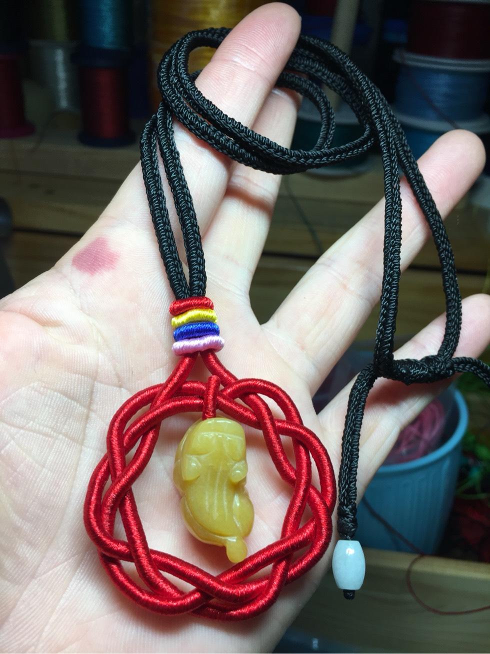 中国结论坛 大家好呀 项链绳,双钱结,项链 作品展示 094431c362f6gnnfz6j669