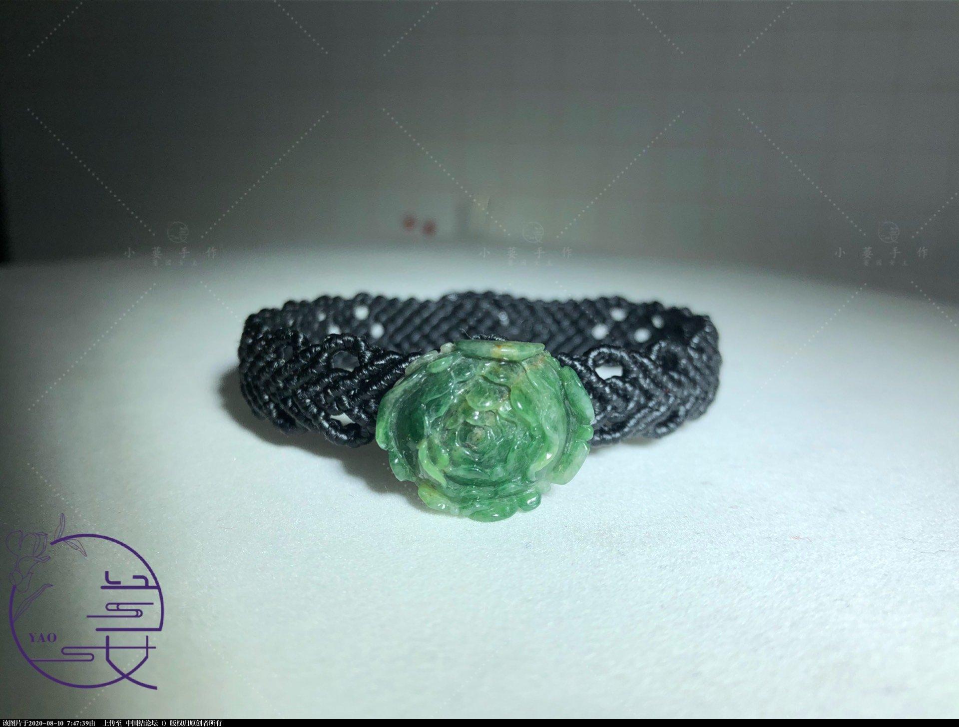 中国结论坛 翡翠牡丹手链 手链 作品展示
