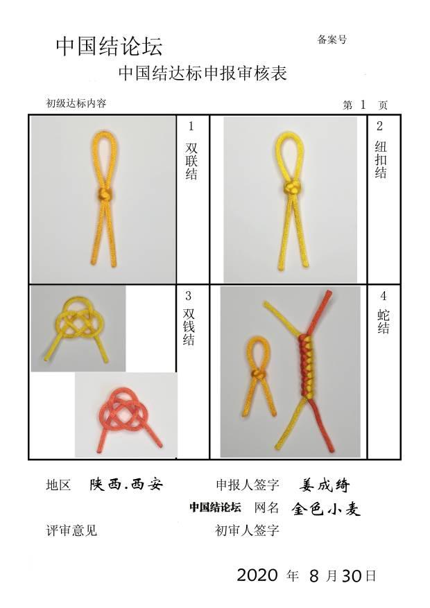 中国结论坛 金色小麦—初级达标申请稿件  中国绳结艺术分级达标审核 073509k3b68fnzna00ee8c