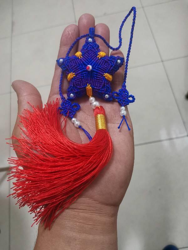 中国结论坛 这配色觉得别扭,弄个红挂绳会不会好点 挂饰,五角,流苏 作品展示 203605hudy166pkh63pii6