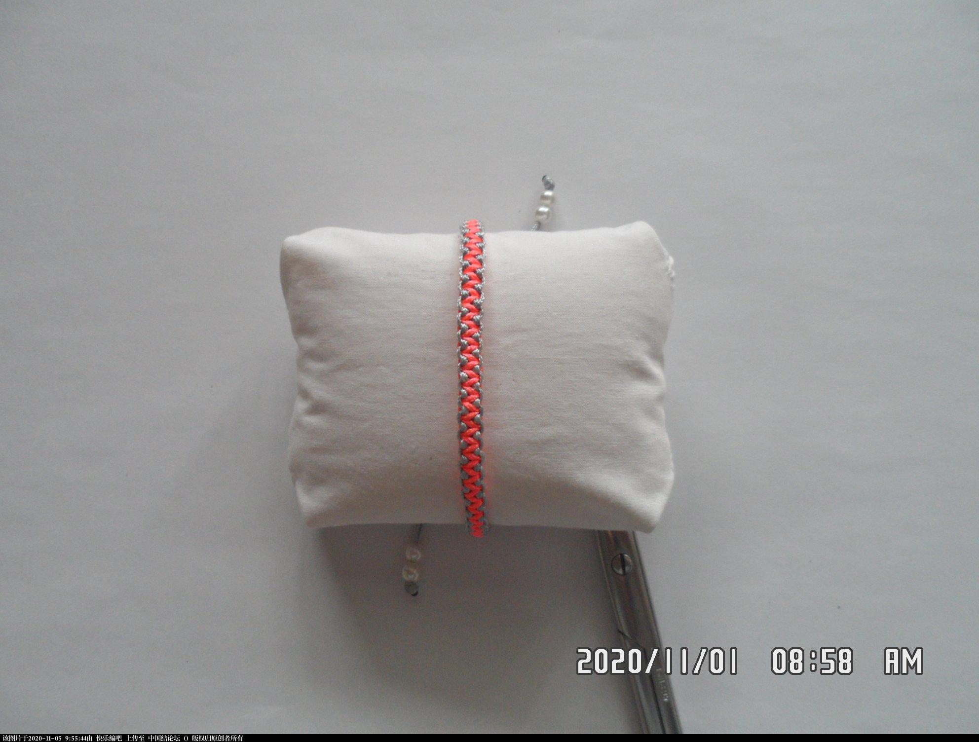 中国结论坛 一款添加装饰线的平结手绳 —— 平结还可以这样编(4) 平结,平结的链,手链,中国结入门基础教程 图文教程区 084942d3w43643jxw3b6wc