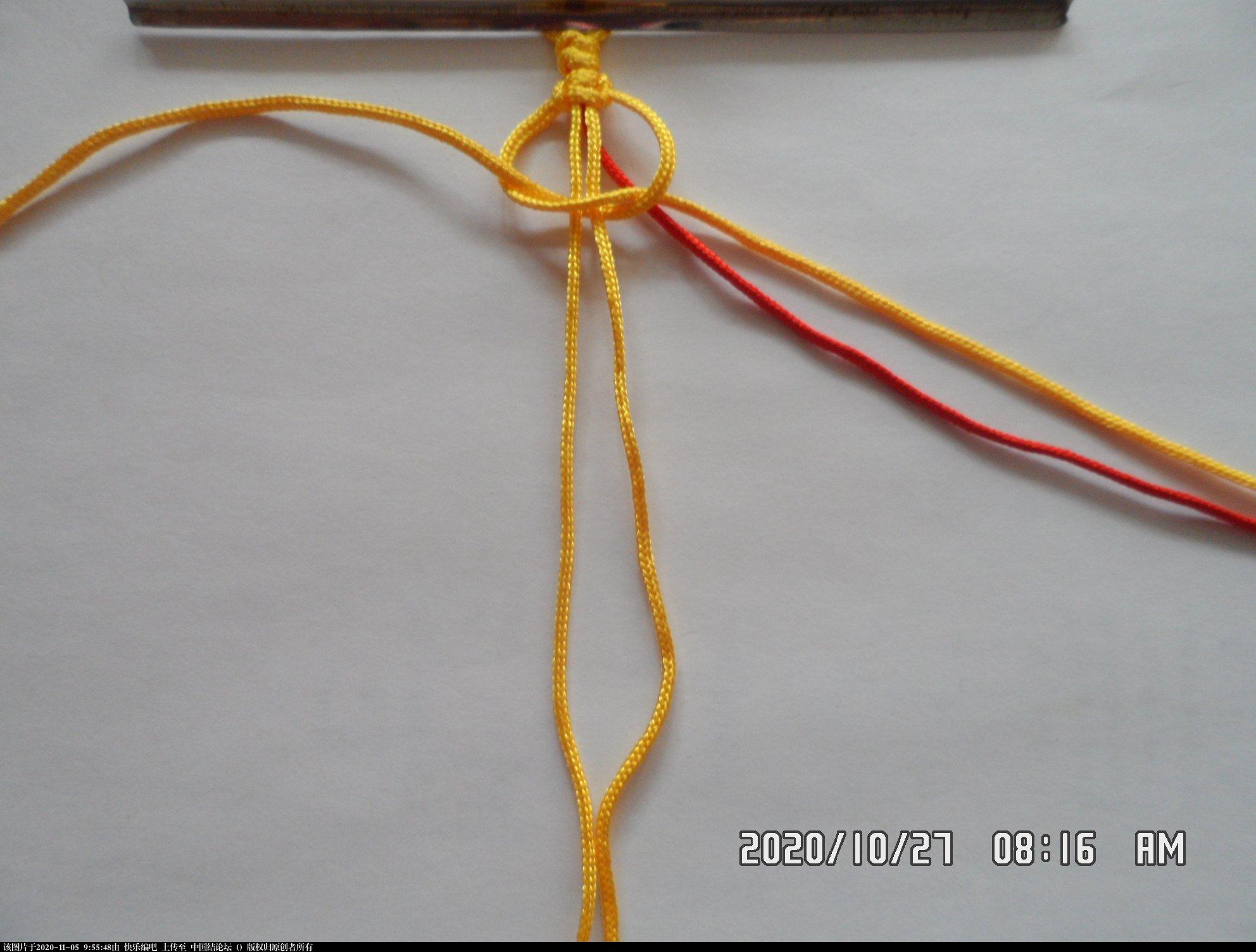 中国结论坛 一款添加装饰线的平结手绳 —— 平结还可以这样编(4) 平结,平结的链,手链,中国结入门基础教程 图文教程区 090553x5xm37pxpb23mb5o