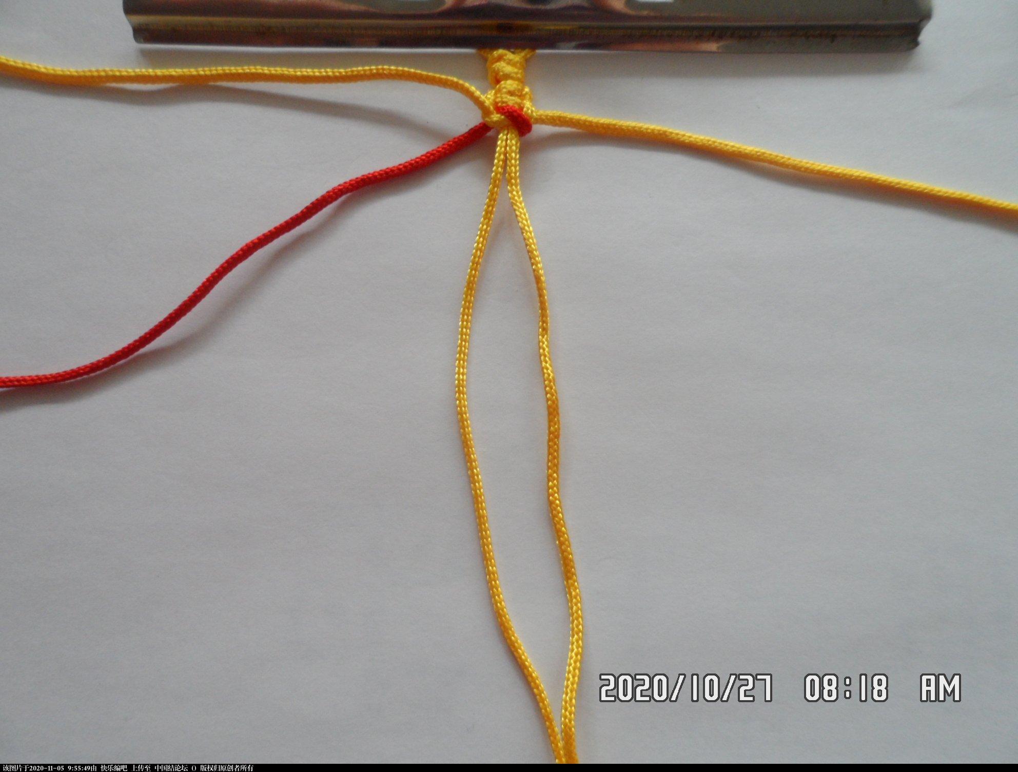 中国结论坛 一款添加装饰线的平结手绳 —— 平结还可以这样编(4) 平结,平结的链,手链,中国结入门基础教程 图文教程区 091051hib777cxmw2emiw8