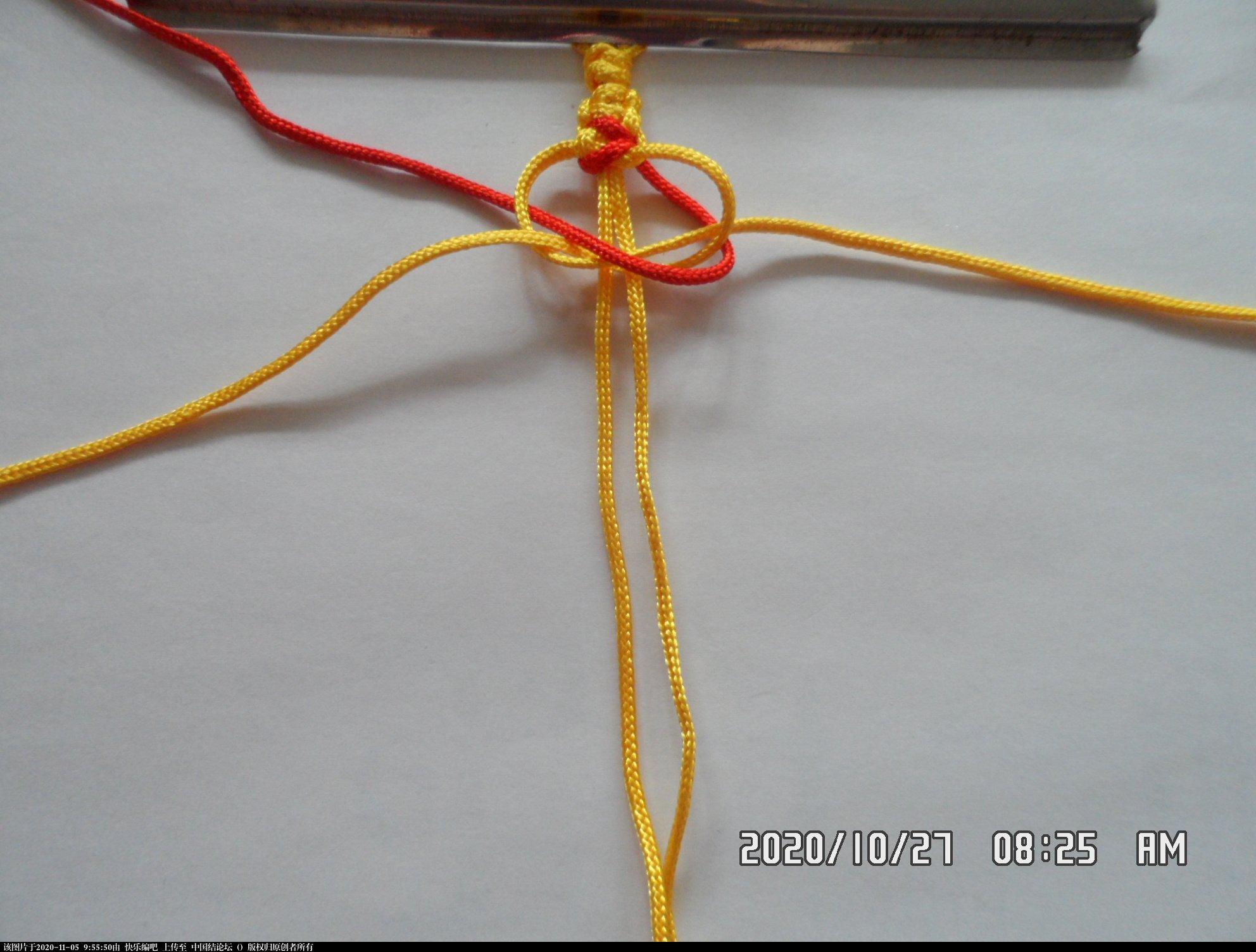 中国结论坛 一款添加装饰线的平结手绳 —— 平结还可以这样编(4) 平结,平结的链,手链,中国结入门基础教程 图文教程区 091806weeeloyjol5pia8r