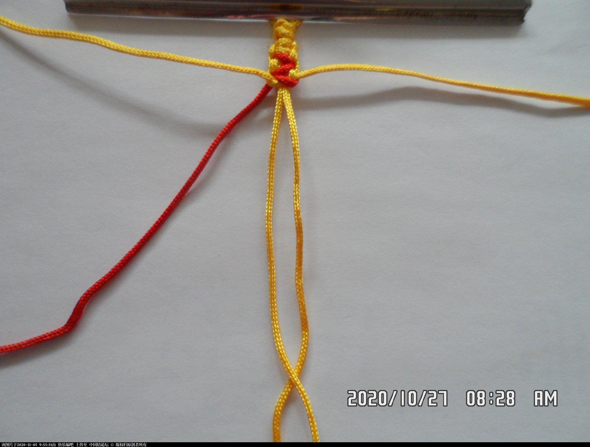 中国结论坛 一款添加装饰线的平结手绳 —— 平结还可以这样编(4) 平结,平结的链,手链,中国结入门基础教程 图文教程区 092042y3z2gnosrze330og