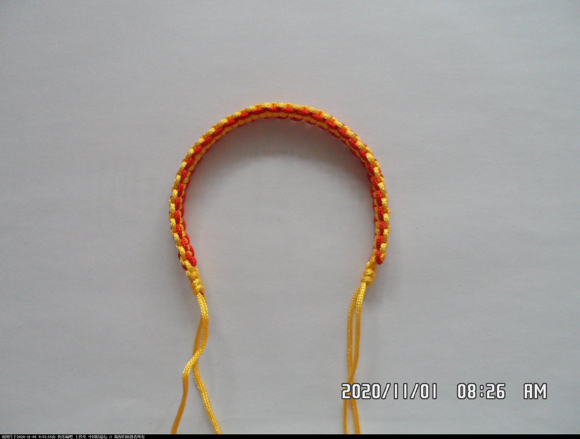 中国结论坛 一款添加装饰线的平结手绳 —— 平结还可以这样编(4) 平结,平结的链,手链,中国结入门基础教程 图文教程区 093429yrzxtx05ktgh7ff5