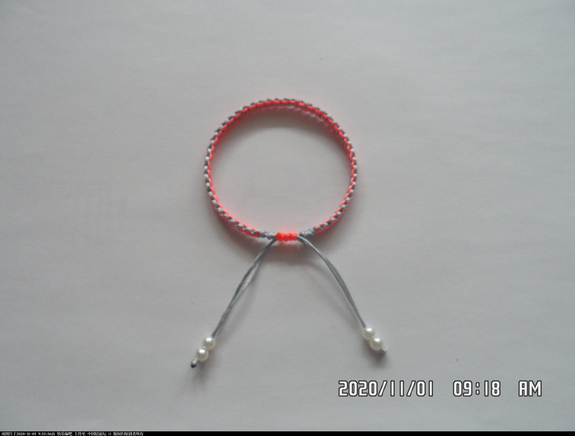 中国结论坛 一款添加装饰线的平结手绳 —— 平结还可以这样编(4) 平结,平结的链,手链,中国结入门基础教程 图文教程区 093832bxt1zff3iy536hed