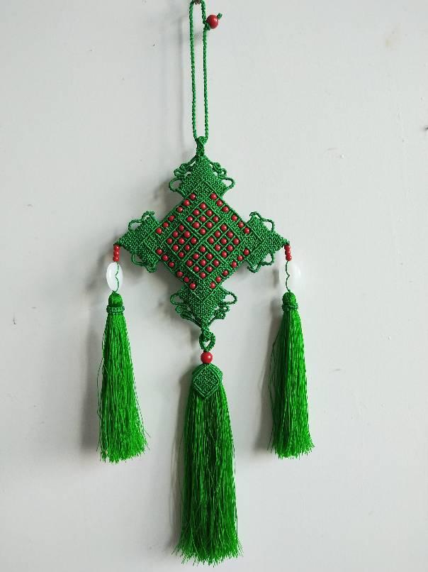 中国结论坛 剪翠荷包 挂饰,斜卷结,镶珠,流苏,荷包 作品展示 074225ynopp80nnweedfn0