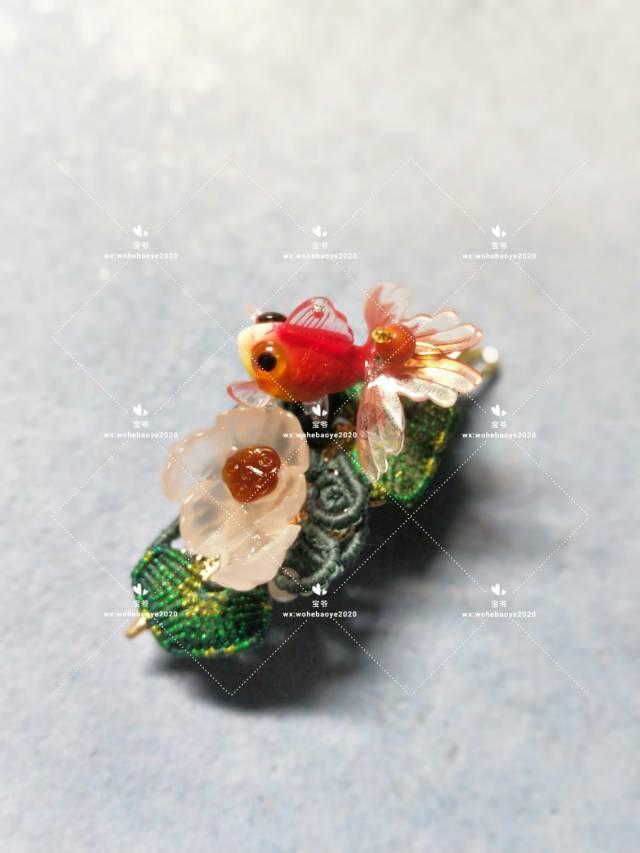 中国结论坛 糖心荷花金鱼发夹 荷花,金鱼,发饰 作品展示 163023xaamtmmzvffattza
