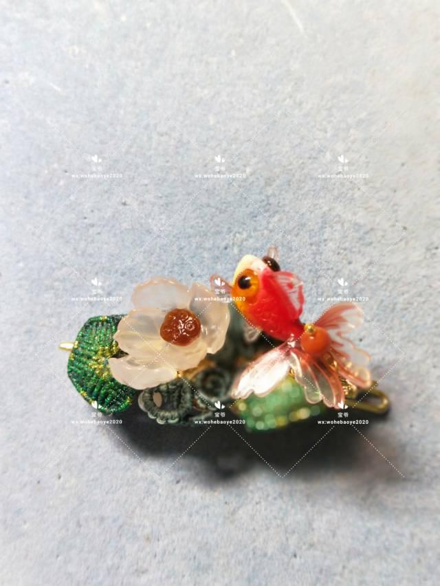 中国结论坛 糖心荷花金鱼发夹 荷花,金鱼,发饰 作品展示 163023ysj2rbrveujjsjgz