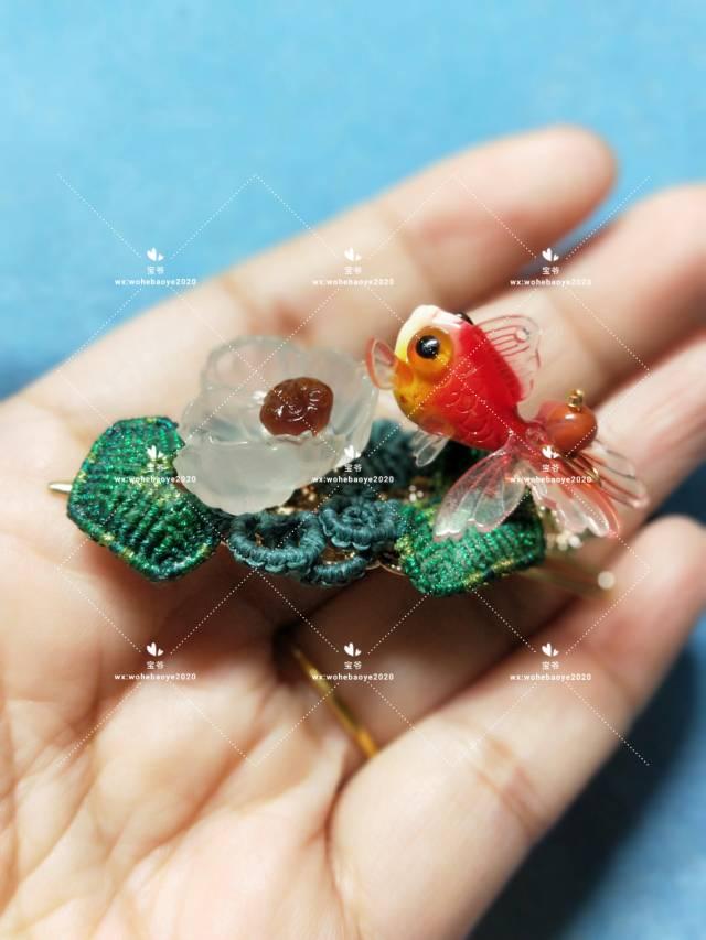 中国结论坛 糖心荷花金鱼发夹 荷花,金鱼,发饰 作品展示 163024rjyjldrj29rdllnb