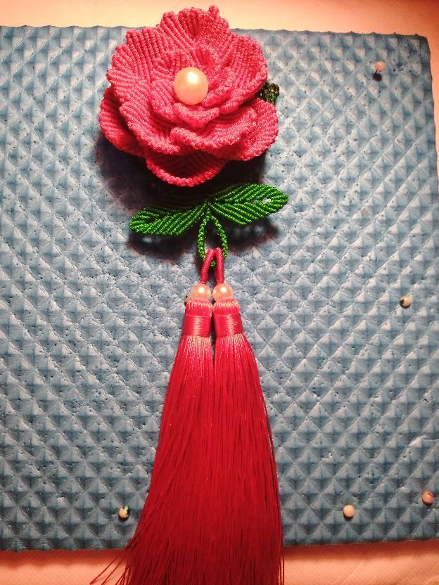 中国结论坛 牡丹挂件 牡丹,花卉,流苏 作品展示 225501szfppi14y00i1zyc