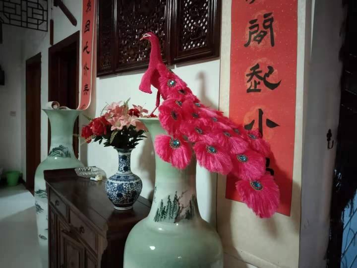 中国结论坛 粉色孔雀  丽姐的教程跟着做的 孔雀,动物 作品展示 195804jd4f00xzxv446gp6