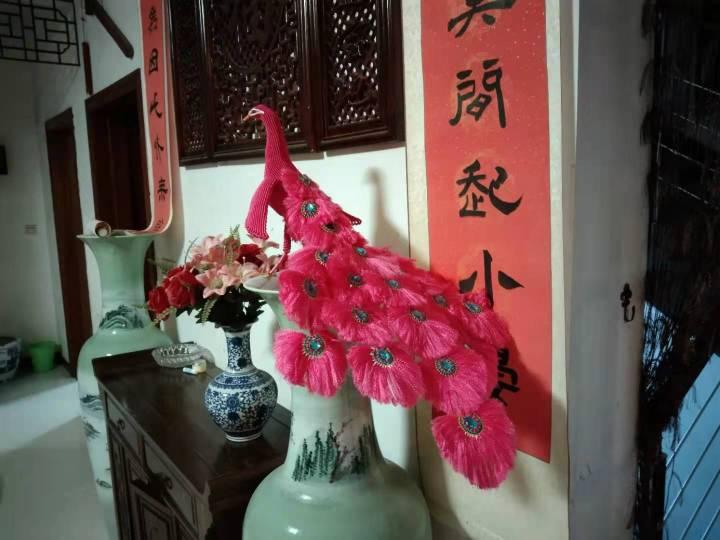 中国结论坛 粉色孔雀  丽姐的教程跟着做的 孔雀,动物 作品展示 195805p2b5xulgdqoxqqug