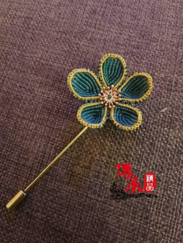 中国结论坛 学编了款胸针 胸针,花卉,五角 作品展示 073433njbeeieawjgiige2