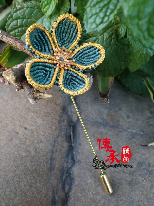 中国结论坛 学编了款胸针 胸针,花卉,五角 作品展示 073433rbmzf1og11uuue66