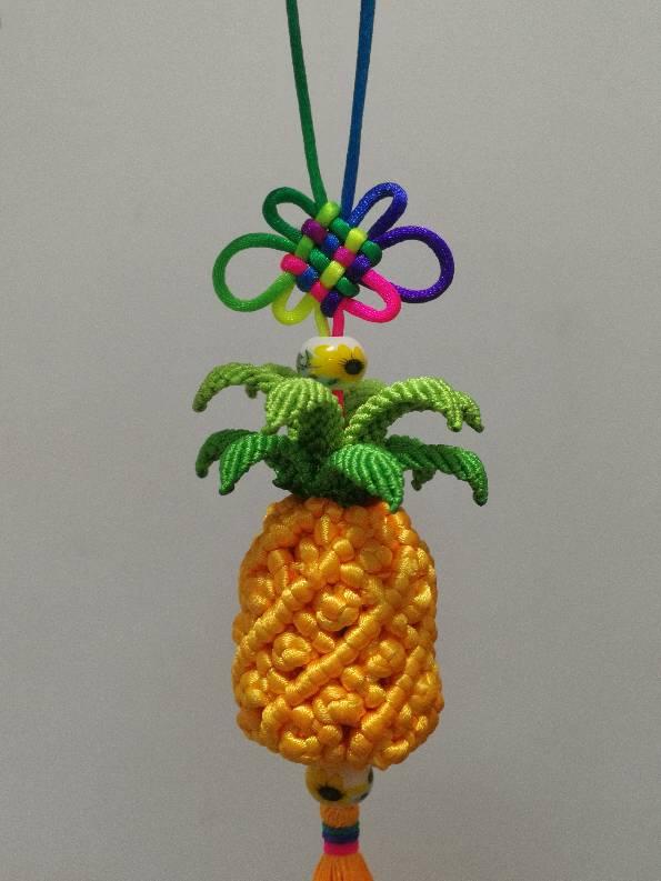 中国结论坛 菠萝车挂 盘长,菠萝,斜卷结植物 作品展示 085933cfe2xxxxf8kxzf79