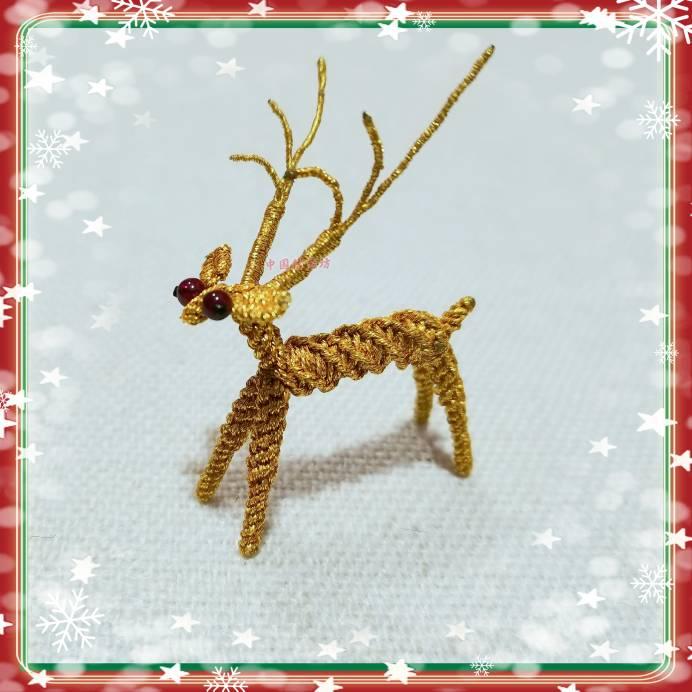中国结论坛 金色圣诞驯鹿的简单编法 驯鹿怎么画简单又好看,圣诞驯鹿简笔画图片 图文教程区 111036yzof753mkloobs4z