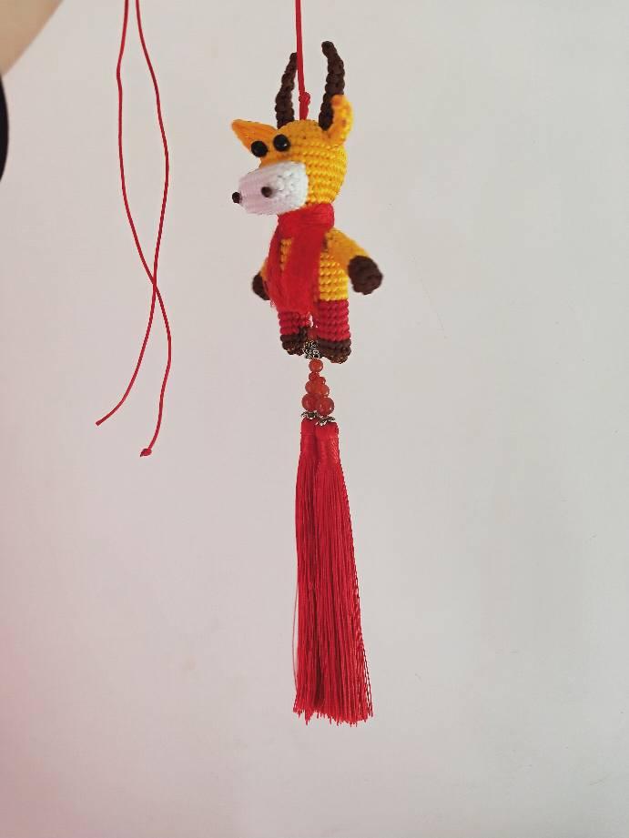 中国结论坛 结缘堂丽姐原创牛气冲天 生肖,小牛,斜卷结立体 作品展示 100659uvoa6za6okbafbbk