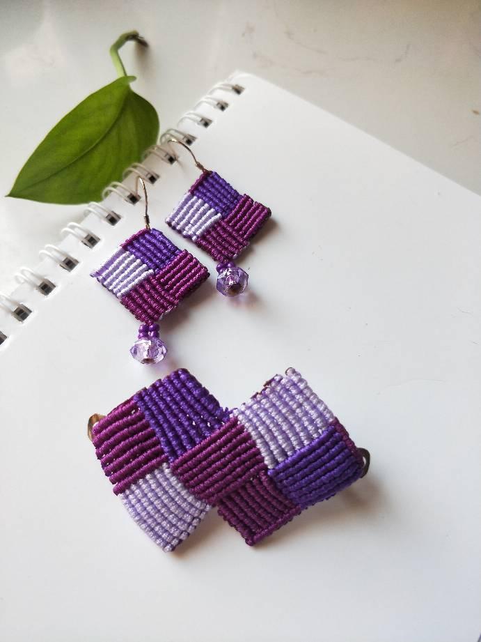 中国结论坛 紫光 耳环,耳饰,斜卷结饰品 作品展示 152513egioni1e51s55555