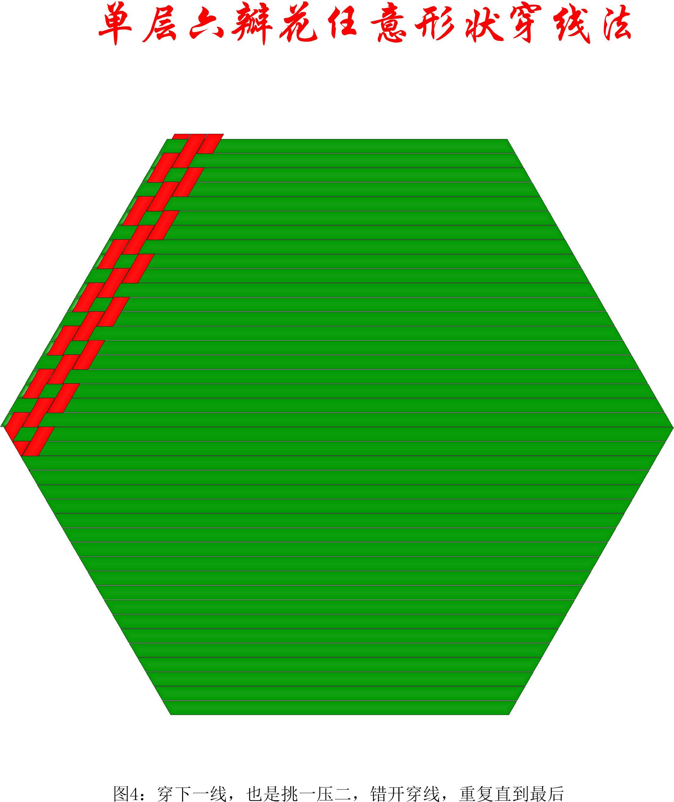 中国结论坛 单层叠压六瓣花任意形状穿线方法 1264,盘长结 丑丑徒手编结 200903uodngfb7fhv04mbi