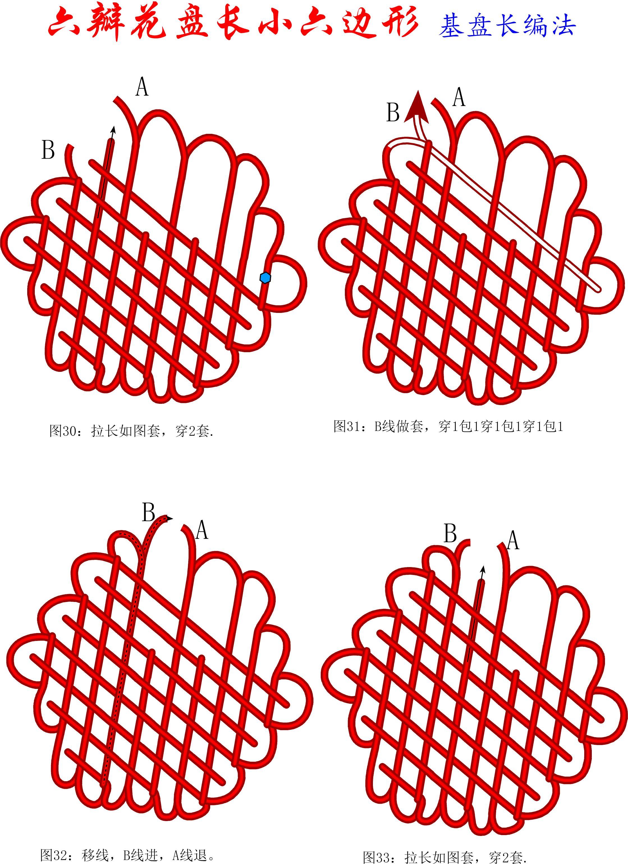 中国结论坛 六瓣花盘长小六边形徒手教程 1264,盘长结 丑丑徒手编结 084429zpwxot5lulp3xbub