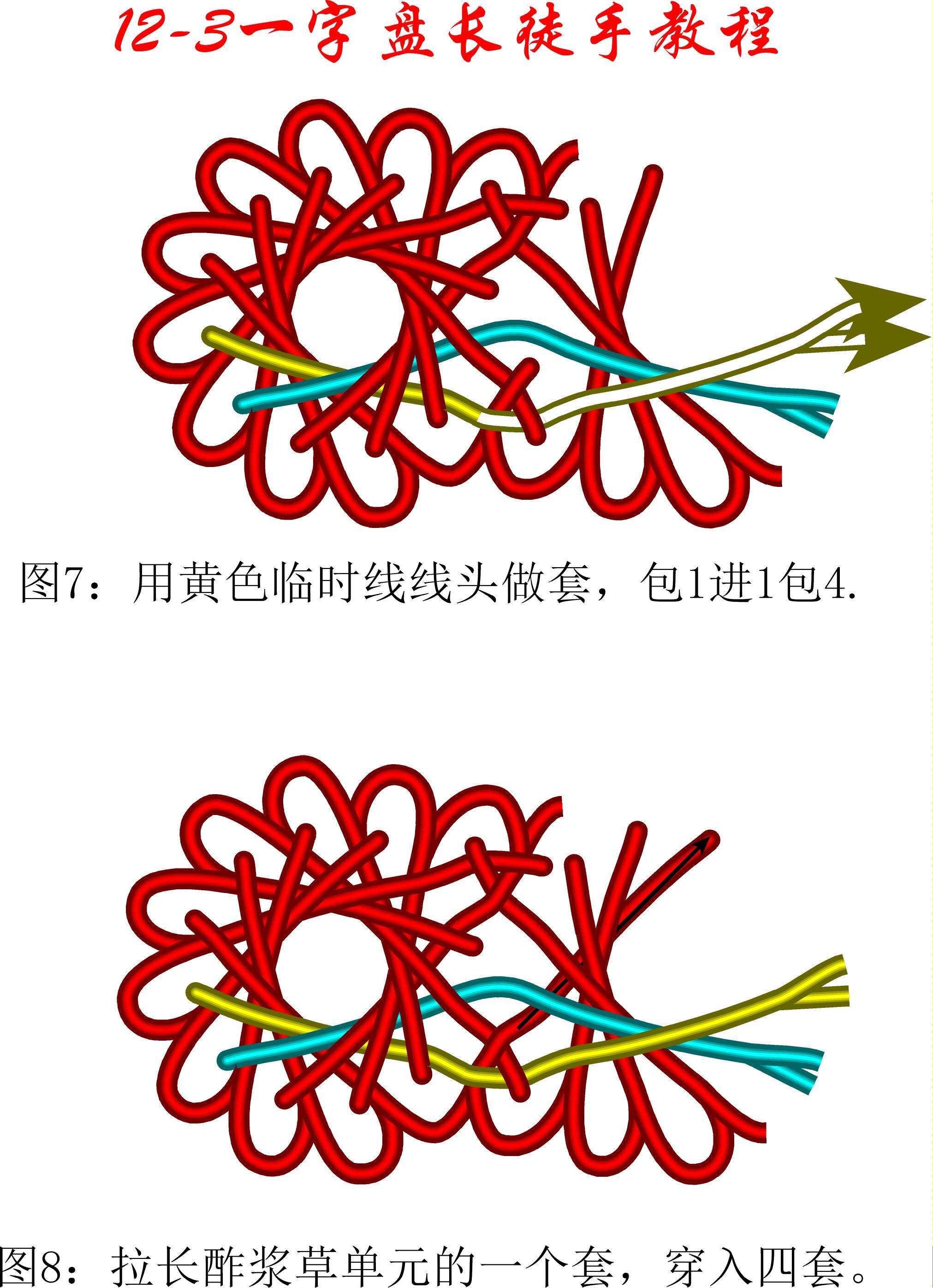 中国结论坛 12-3一字盘长单元扩展法教程 教程,一步一步教你编中国结 丑丑徒手编结 105952dhfh663xs3taffs5