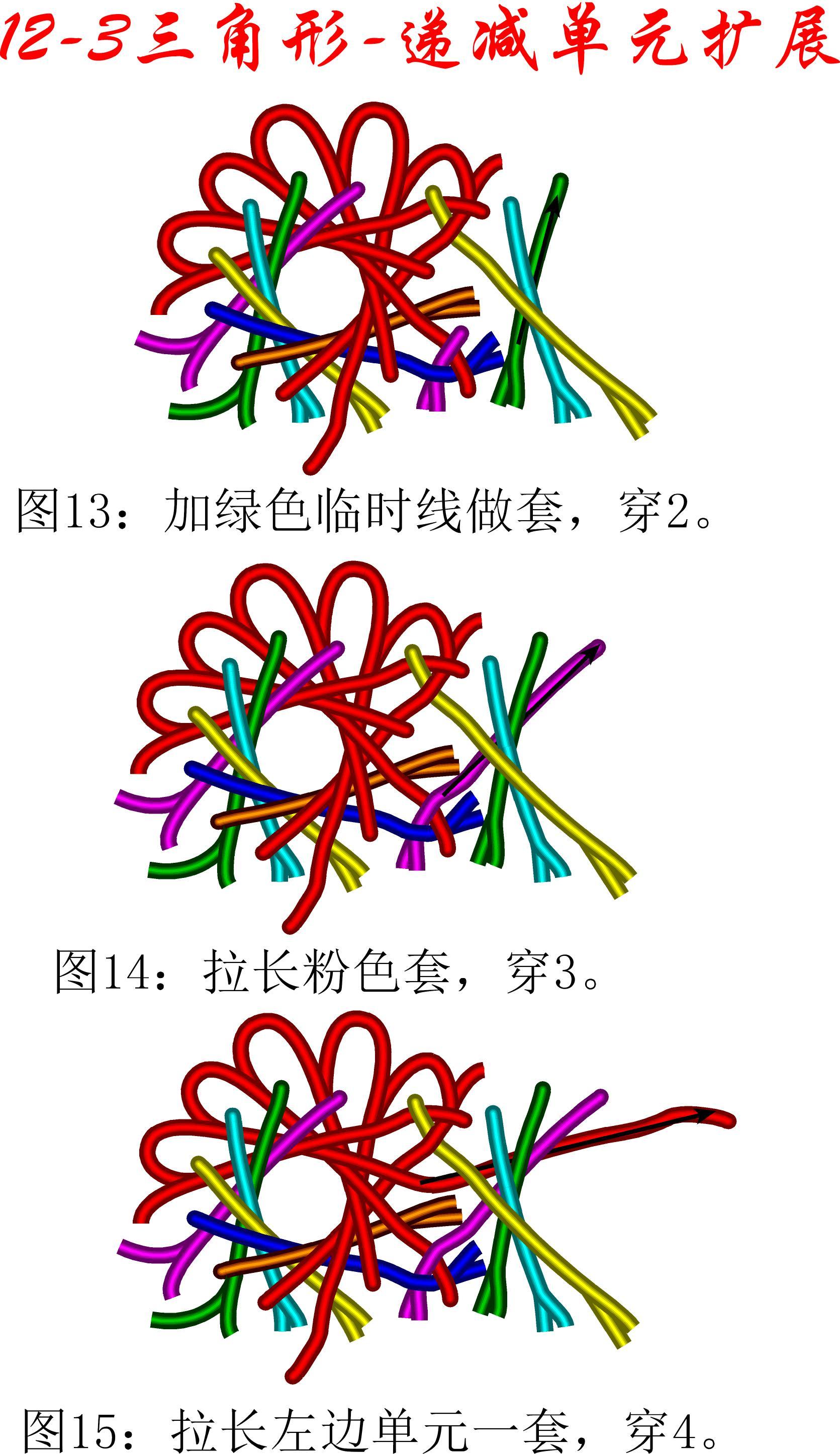 中国结论坛 12-3盘长减少单元扩展方法---三角盘长徒手教程 教程,基本单元,存储器扩展单元,星三角 丑丑徒手编结 174547nwjjnbz5d44ewe4j
