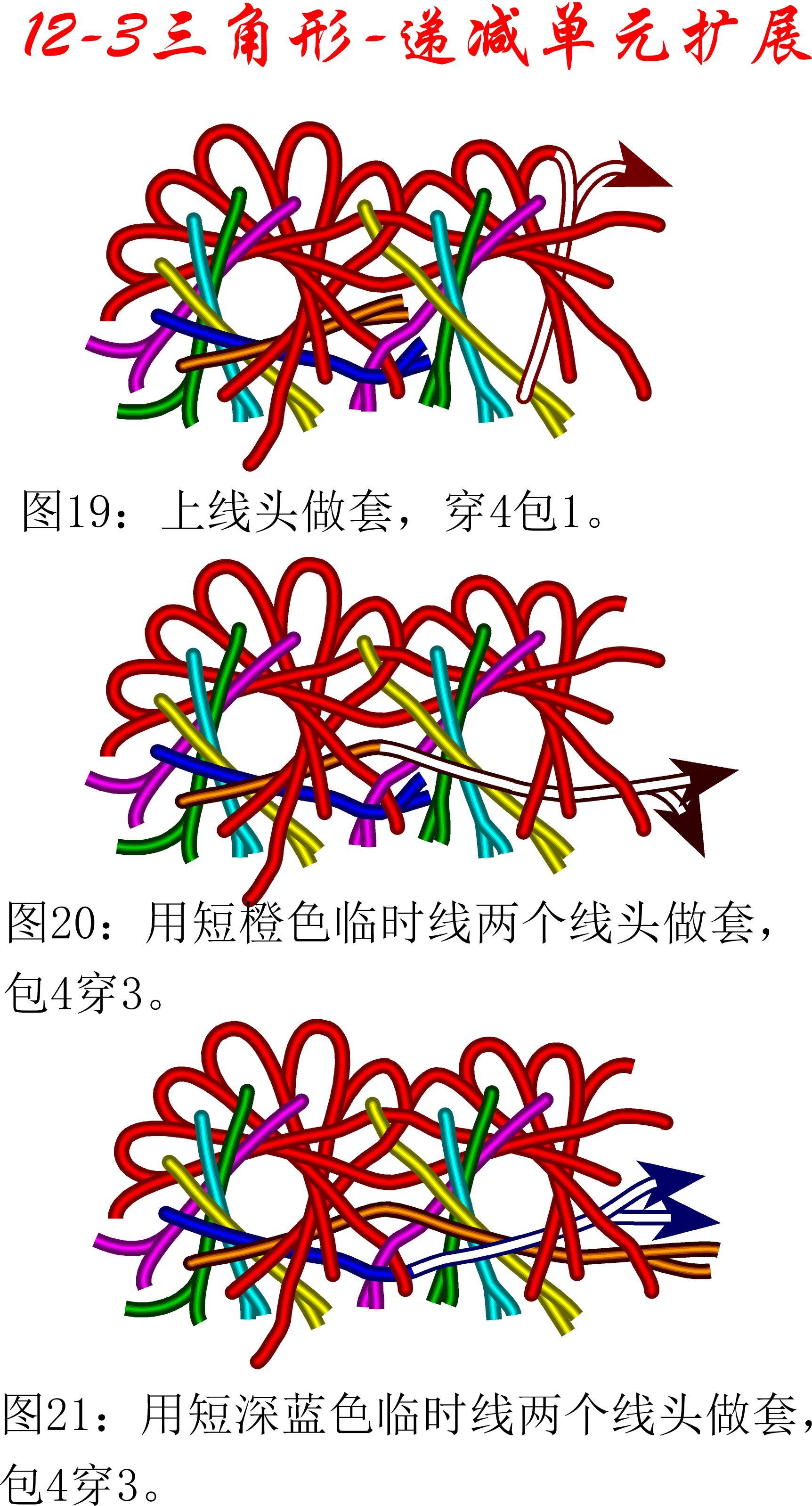 中国结论坛 12-3盘长减少单元扩展方法---三角盘长徒手教程 教程,基本单元,存储器扩展单元,星三角 丑丑徒手编结 174547sofm9k46hx9aarih