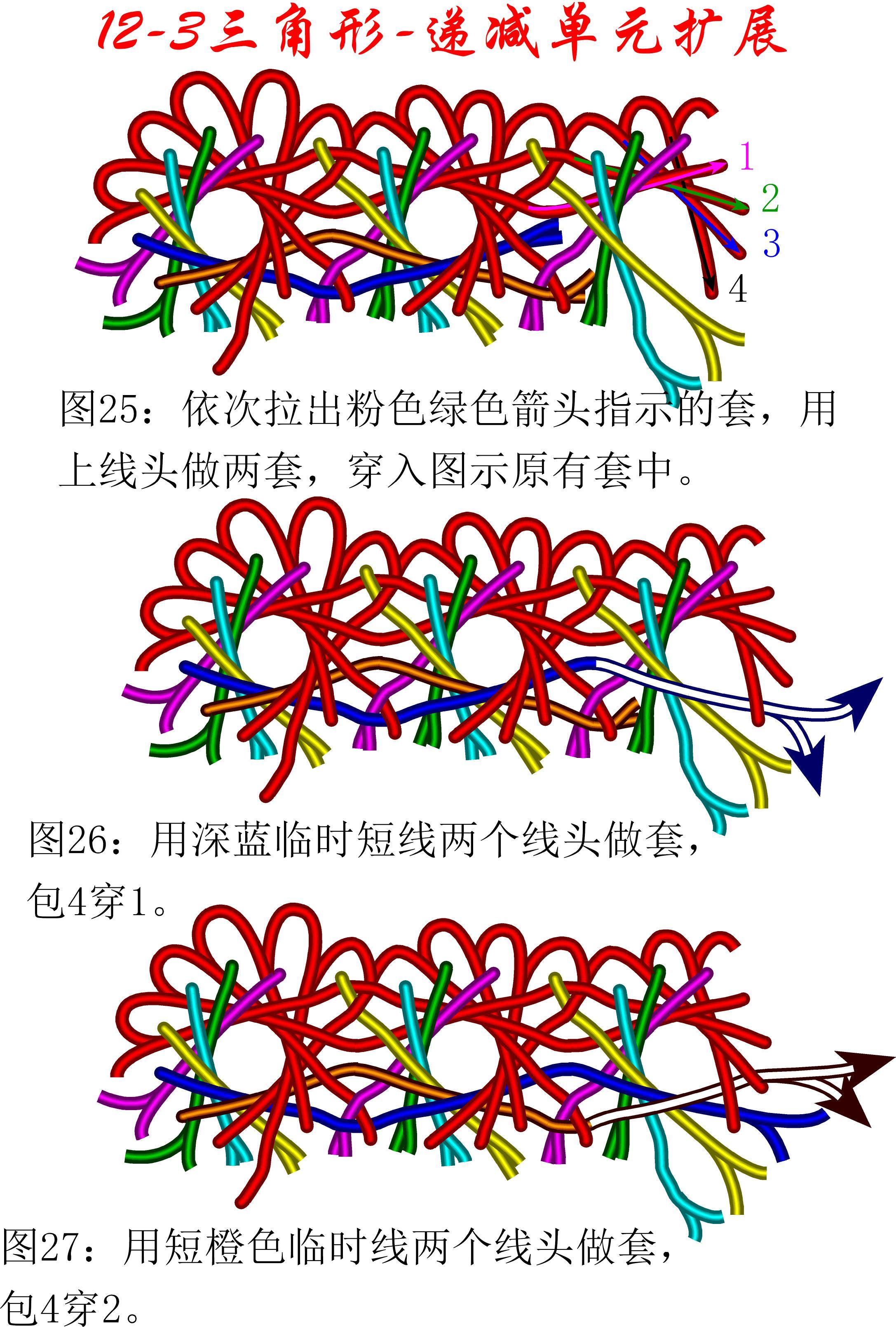 中国结论坛 12-3盘长减少单元扩展方法---三角盘长徒手教程 教程,基本单元,存储器扩展单元,星三角 丑丑徒手编结 174548sgcyr0msj2s7fdyy