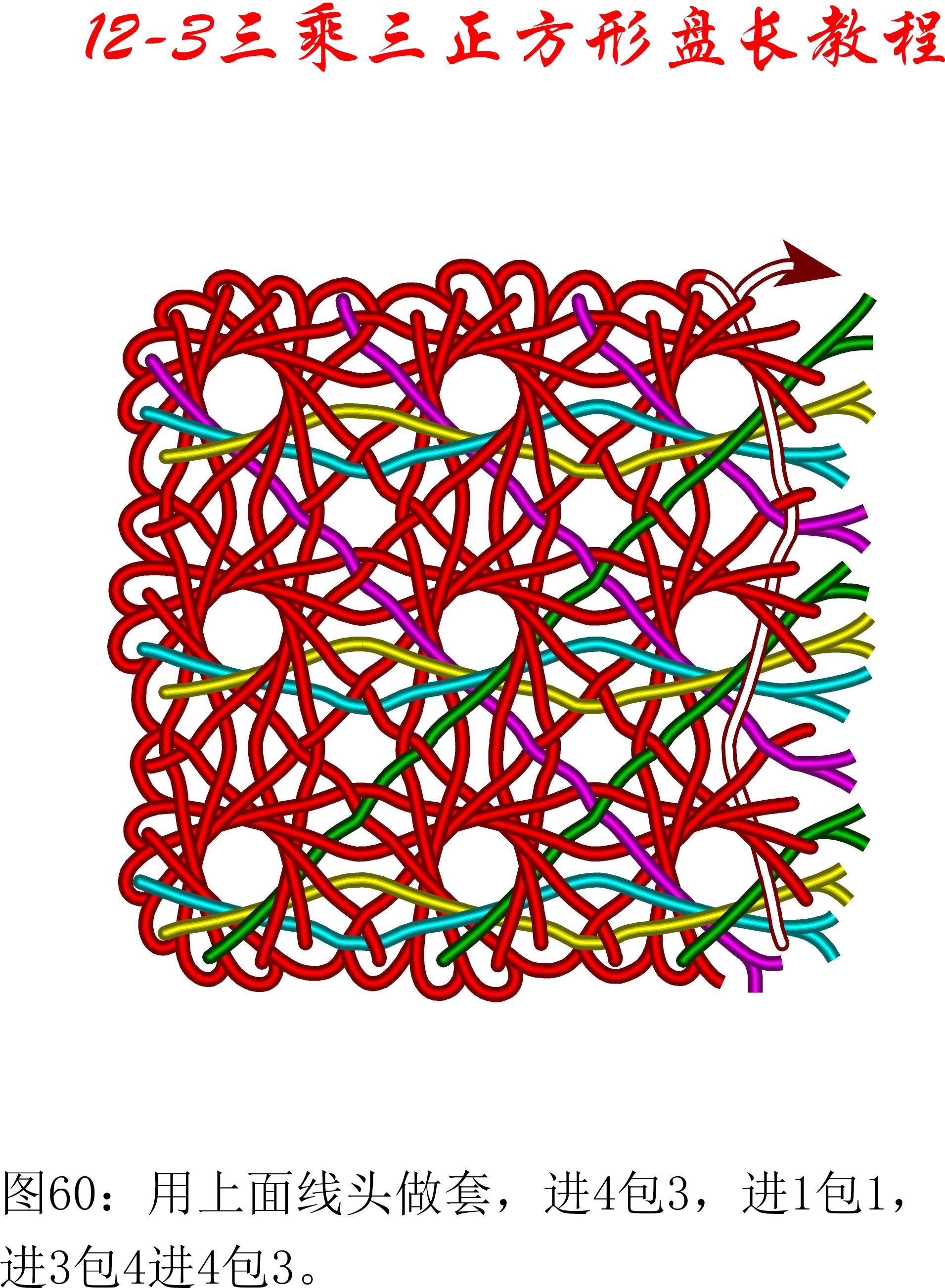 中国结论坛 12-3盘长平行扩展方法---3乘3方形盘长 方形,方形脸怎么办 丑丑徒手编结 093121n592zv41tom0kcwr