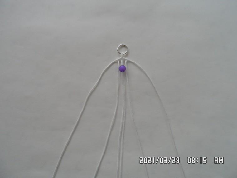 耳环编织教程图解,简单民族风耳坠制作方法