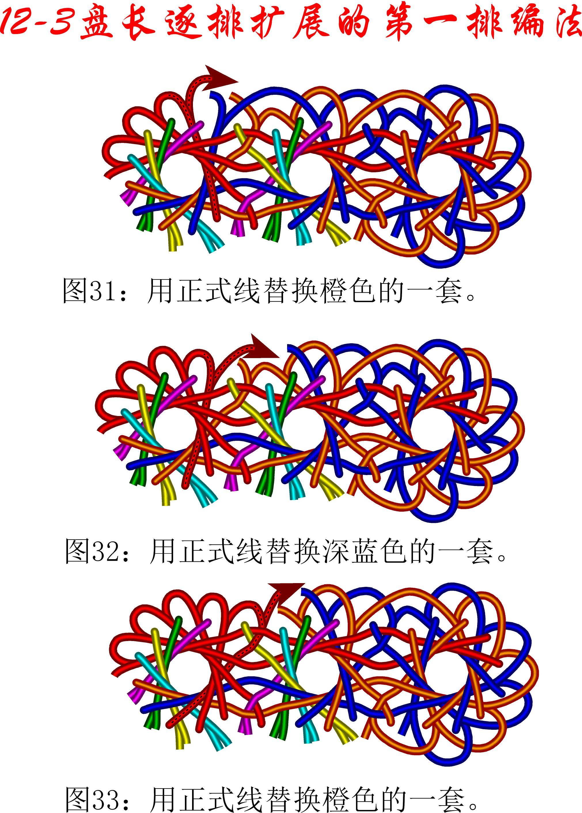 中国结论坛 12-3排扩展法第一排的基盘长编法教程 教程,共基接法,扩展法定义,定基分析法,扩展编码法 丑丑徒手编结 111148ta3qm4n804a6ea7r
