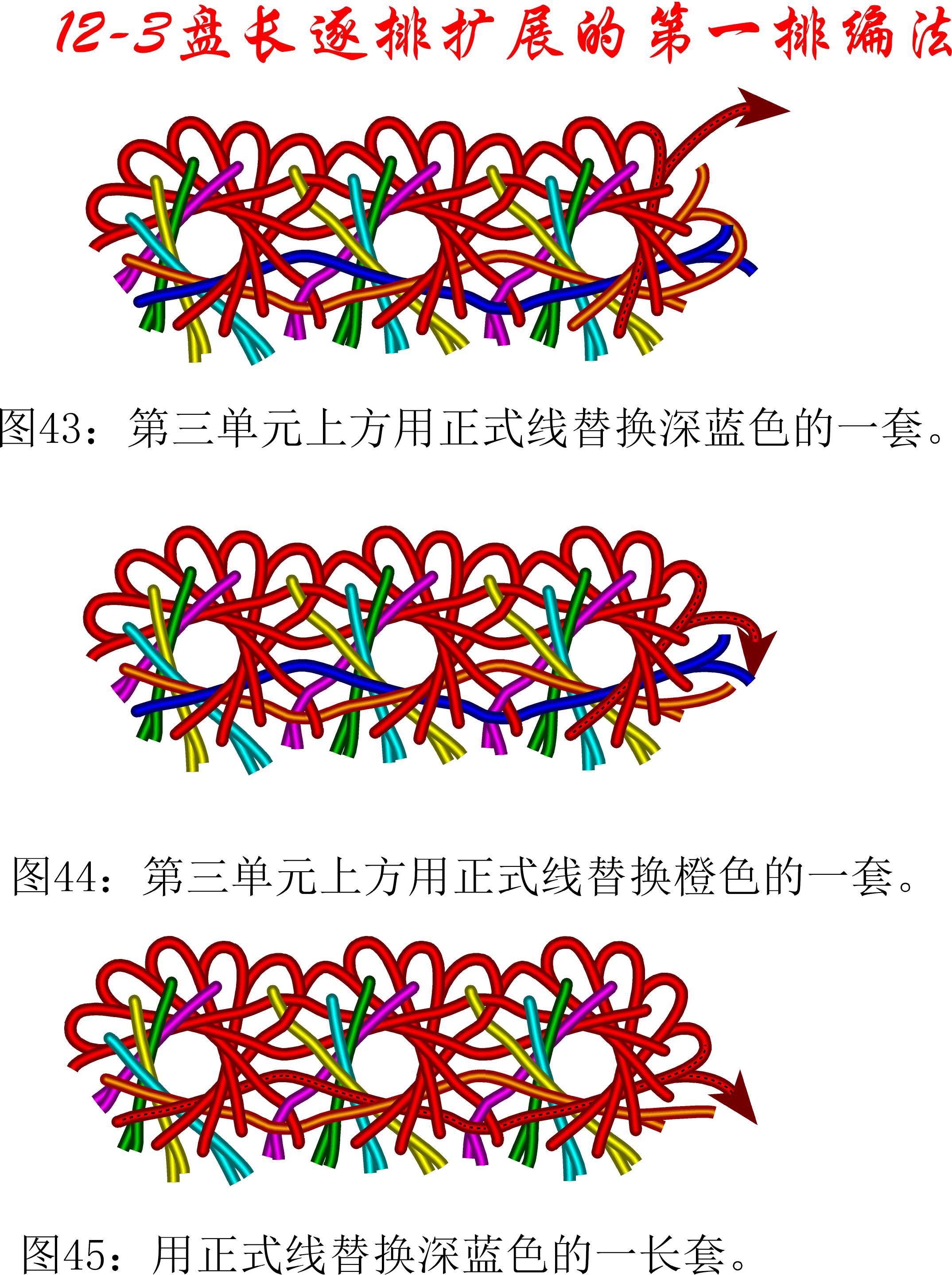 中国结论坛 12-3排扩展法第一排的基盘长编法教程 教程,共基接法,扩展法定义,定基分析法,扩展编码法 丑丑徒手编结 111246g1iq3wzw4aqne7gh