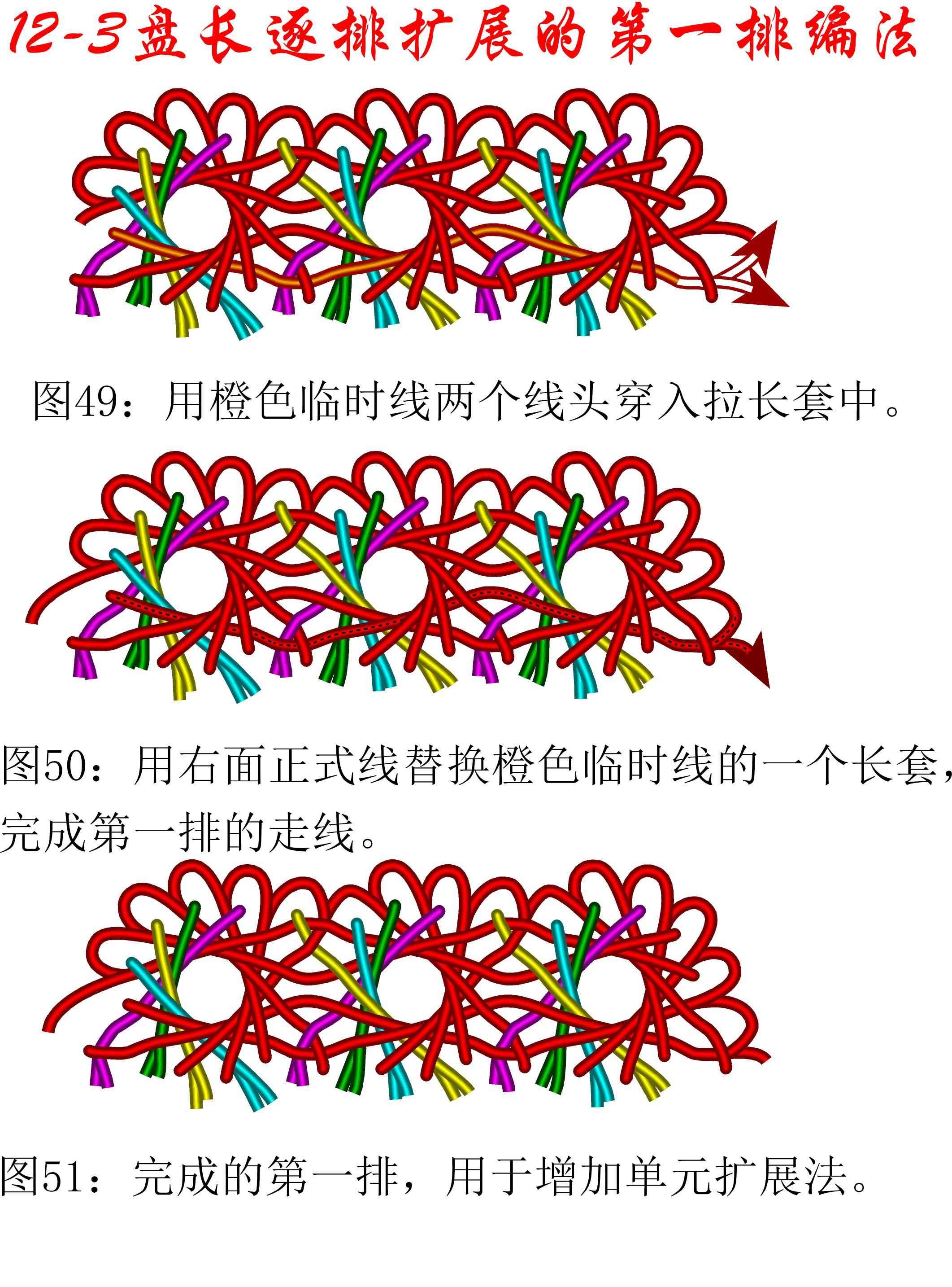 中国结论坛 12-3排扩展法第一排的基盘长编法教程 教程,共基接法,扩展法定义,定基分析法,扩展编码法 丑丑徒手编结 111316m45c5fk5tf9th2d5