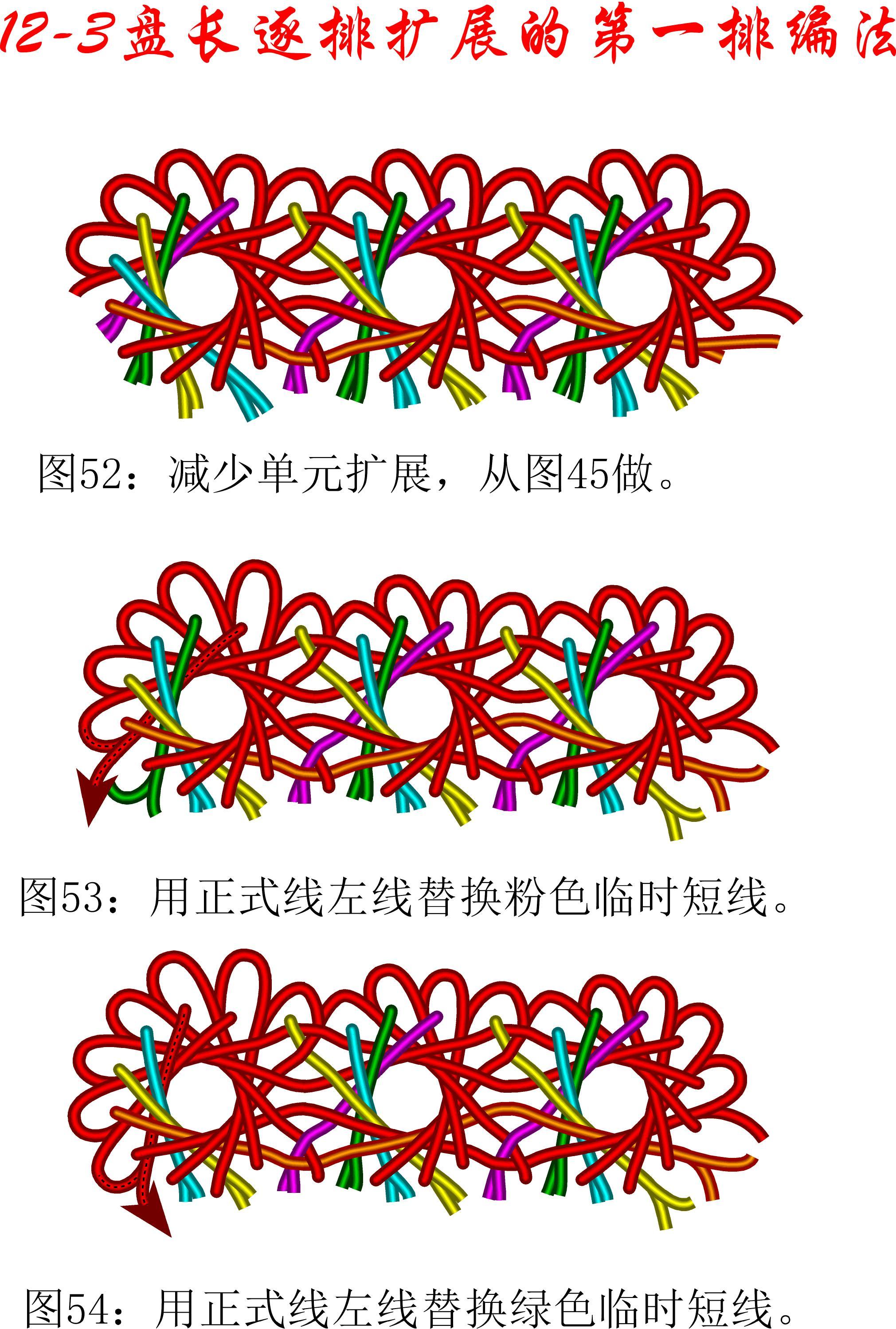 中国结论坛 12-3排扩展法第一排的基盘长编法教程 教程,共基接法,扩展法定义,定基分析法,扩展编码法 丑丑徒手编结 111458nrooo1qqonoyzt9o