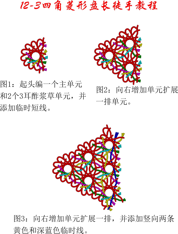 中国结论坛 12-3四角菱形盘长徒手教程 教程,菱形实心花的编织图解,长方形做菱形怎么做,长方形分菱形图解,菱形四边一样长吗 丑丑徒手编结 133832ck1z1o31q445d6k4