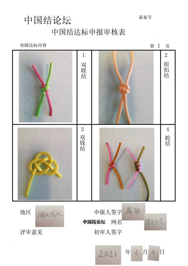 中国结论坛 深波水花初级达标申请  中国绳结艺术分级达标审核 082259dtnpz2f4fwz224gk