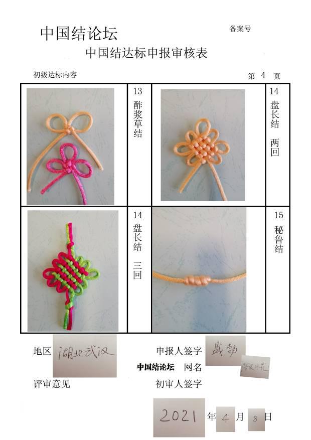 中国结论坛 深波水花初级达标申请  中国绳结艺术分级达标审核 082302ht8nhpxfw84pf4w2