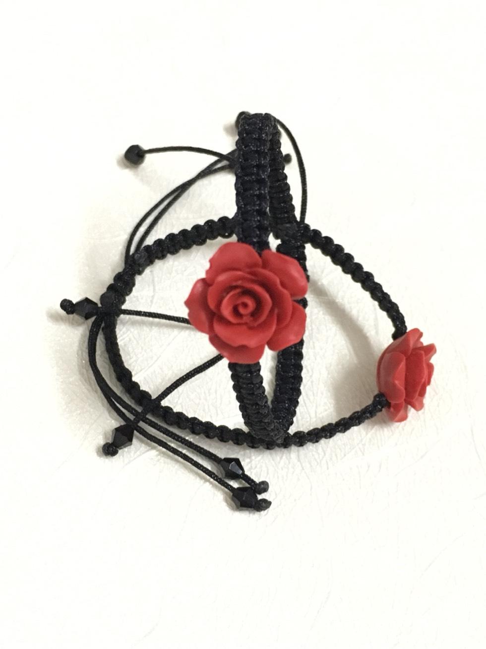 中国结论坛 朱砂玫瑰手绳 编织手链 红绳,孕妇可以带朱砂手绳吗,一根红绳怎么编手链,两股手绳收尾打结图解 作品展示 225643zixi2x21xx1g21za