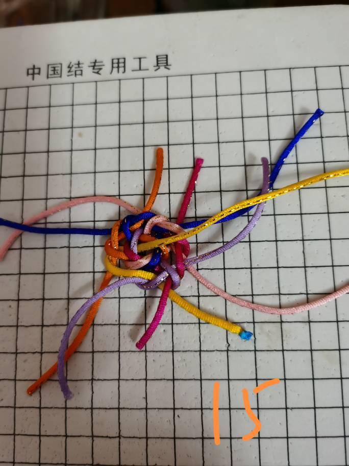 中国结论坛 六耳冰花藻井结 平结,三口六耳,万字结,此间更无六耳 图文教程区 224409eexq5z413i115xc3