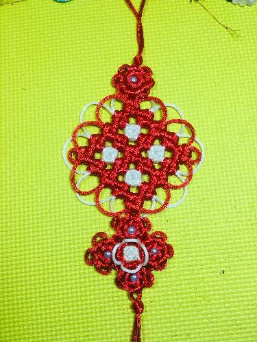 中国结论坛 套色冰花 套色冰花结编法,简单的冰花,套色冰花结,什么冰花,六出冰花 作品展示