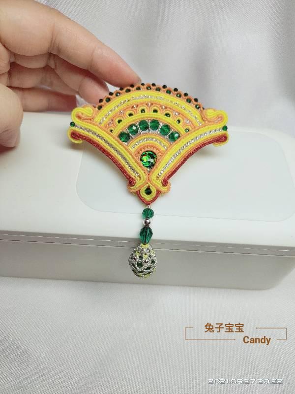 中国结论坛 扇子胸针 小扇子,自己做扇子,胸针戴哪边,胸针干嘛用的,胸针胸花 作品展示 211908r1ahobe4hhbpzbhh