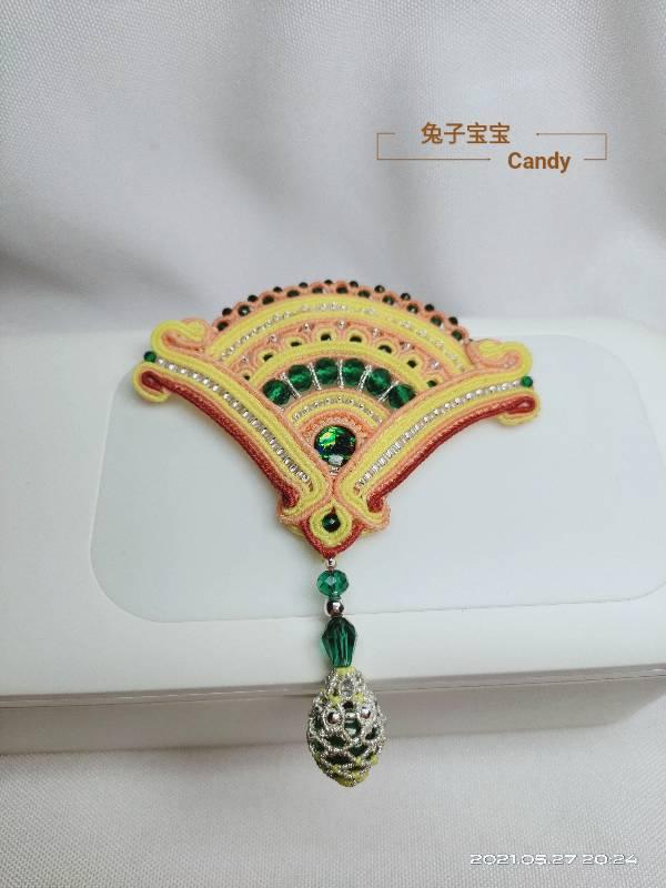 中国结论坛 扇子胸针 小扇子,自己做扇子,胸针戴哪边,胸针干嘛用的,胸针胸花 作品展示 211909exc00sib6c7it7af