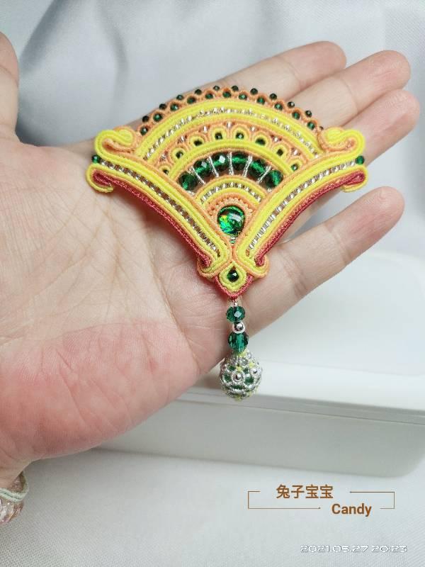 中国结论坛 扇子胸针 小扇子,自己做扇子,胸针戴哪边,胸针干嘛用的,胸针胸花 作品展示 211913i7p1j4lwzj11m16w