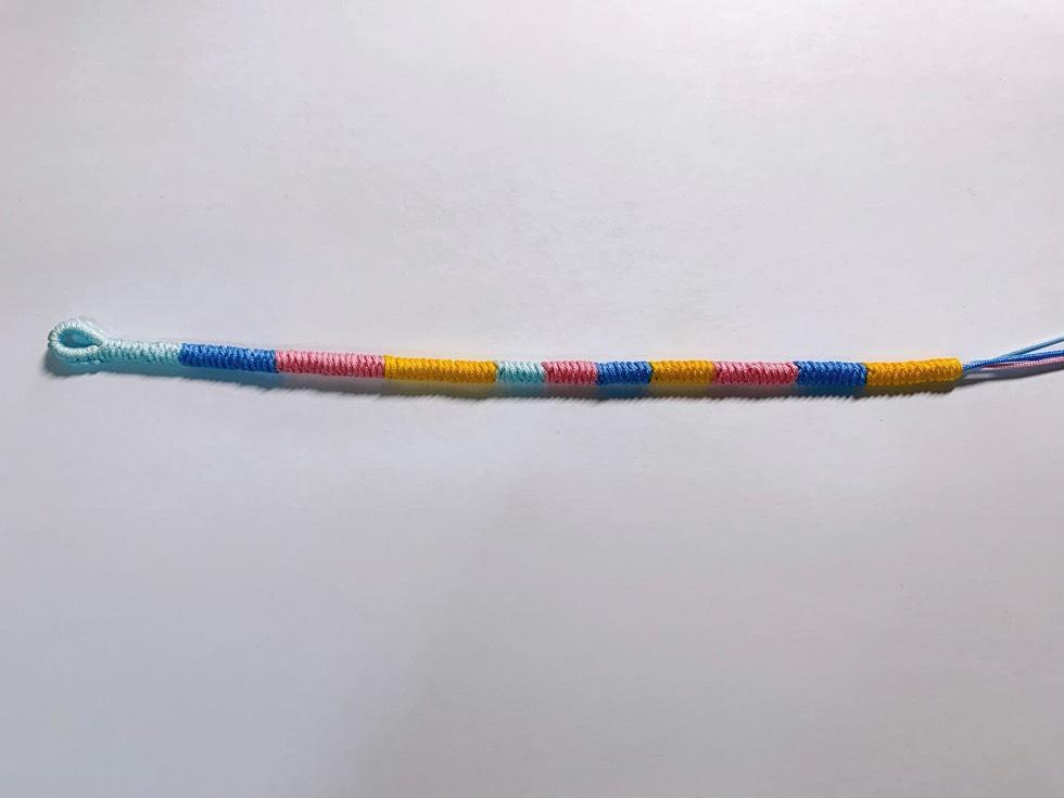 中国结论坛 今日做的金刚结手链,这几种颜色搭配也挺好看 手链,金刚结怎么编,简易金刚结,五彩绳手链编织教程,如何编金刚结手链 作品展示 001943vjkjkmz148dduhjj